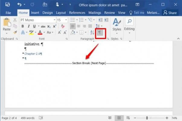 How To Remove A Page Break In Word